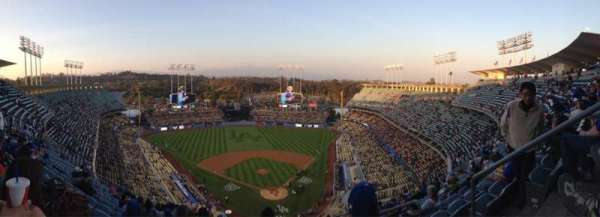 Dodger stadium, section: Top Deck, row: M, seat: 5