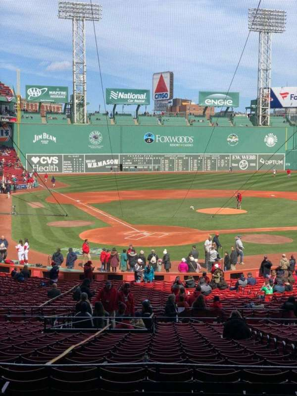 Fenway Park, section: Grandstand 18, row: 8, seat: 20