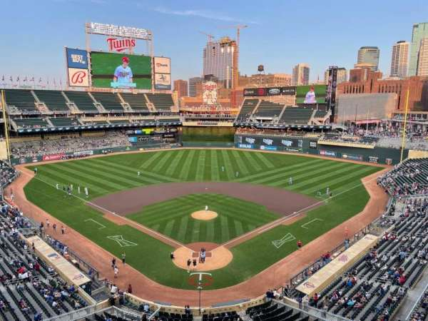 Target Field, section: 215, row: 1, seat: 3