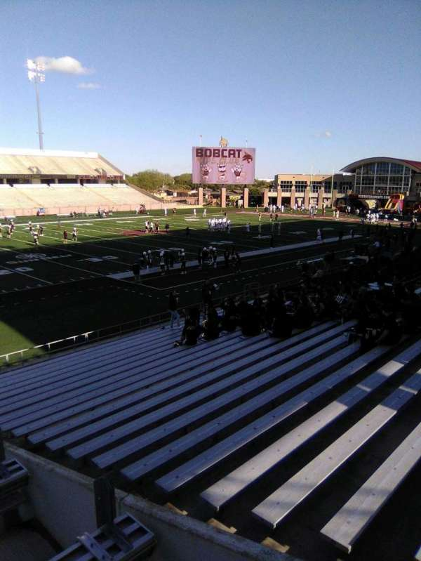 Bobcat Stadium (TSU), section: 105, row: 25, seat: 1