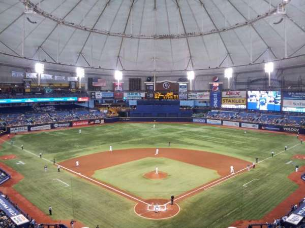 Tropicana Field, section: 300, row: F, seat: 5