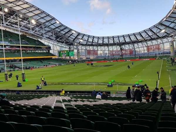 Aviva Stadium, section: 112, row: AA, seat: 15