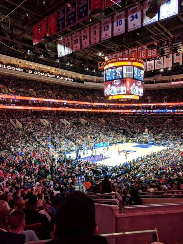 Wells Fargo Center, section: 109, row: 26, seat: 25