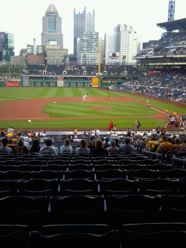 PNC Park, section: 123, row: FF, seat: 4