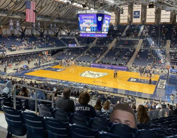 Hinkle Fieldhouse, section: 317, row: 1, seat: 9