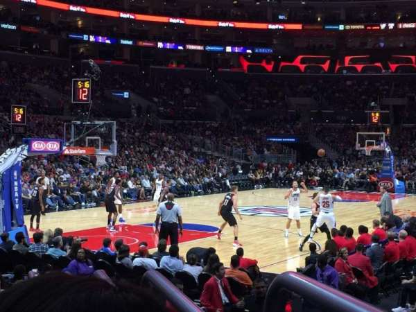 Staples Center, section: 105, row: 9, seat: 1