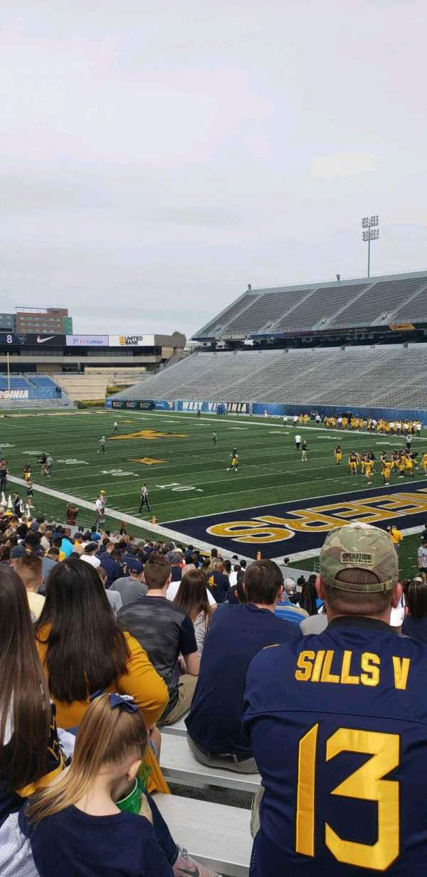 Mountaineer Field, section: 131, row: 26, seat: 14