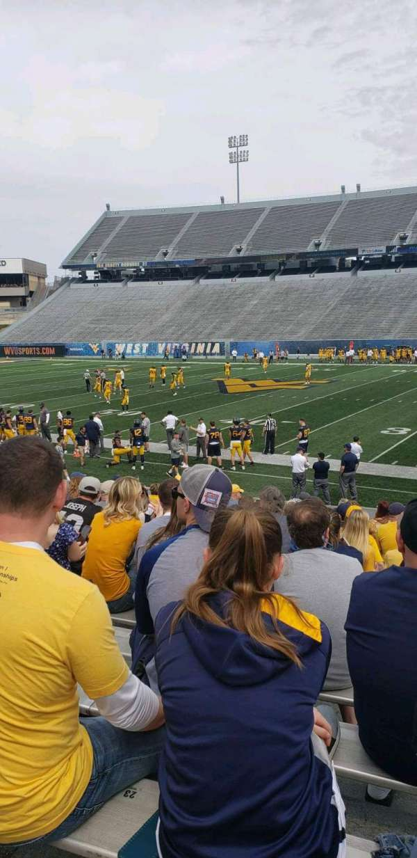 Mountaineer Field, section: 127, row: 10, seat: 27