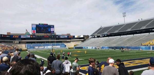 Mountaineer Field, section: 121, row: 8, seat: 5