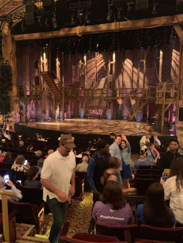 Richard Rodgers Theatre, section: Right Orchestra, row: O, seat: 4