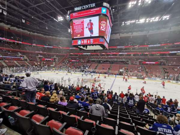 BB&T Center, section: 117, row: 17, seat: 4