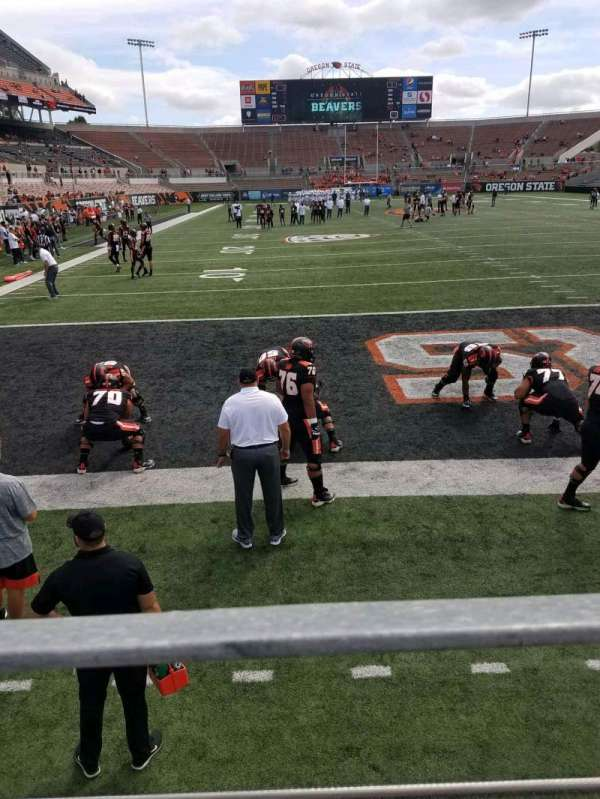 Reser Stadium, section: 23, row: 1, seat: 18