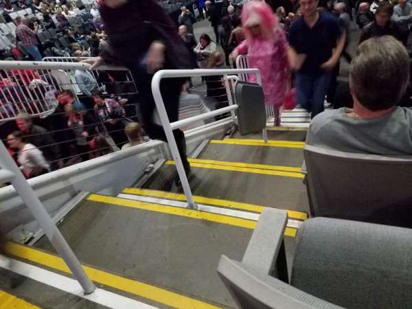 SAP Center, section: 102, row: 8, seat: 24