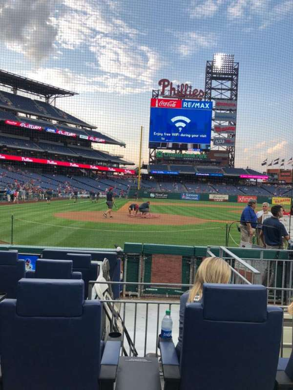 Citizens Bank Park, section: G, row: 5, seat: 8