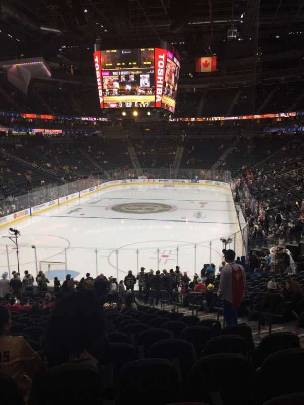 T-Mobile Arena, section: 1, row: V, seat: 18