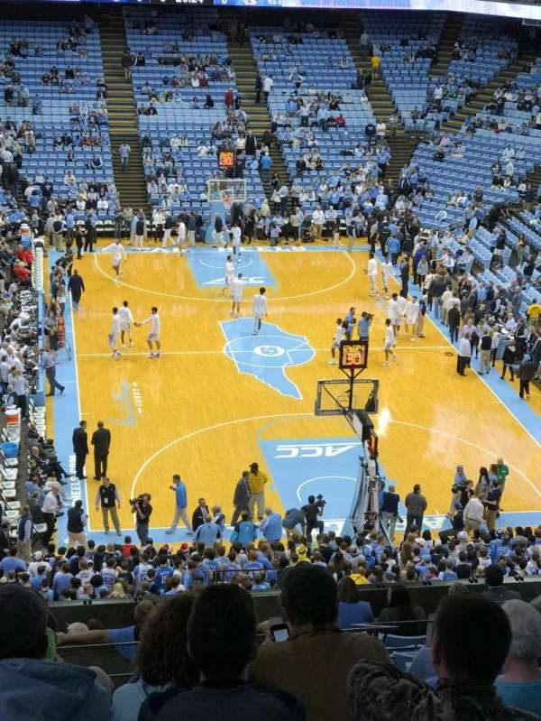 Dean E. Smith Center, section: 216, row: M, seat: 10