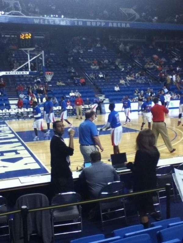 Rupp Arena, section: 16, row: DD, seat: 6