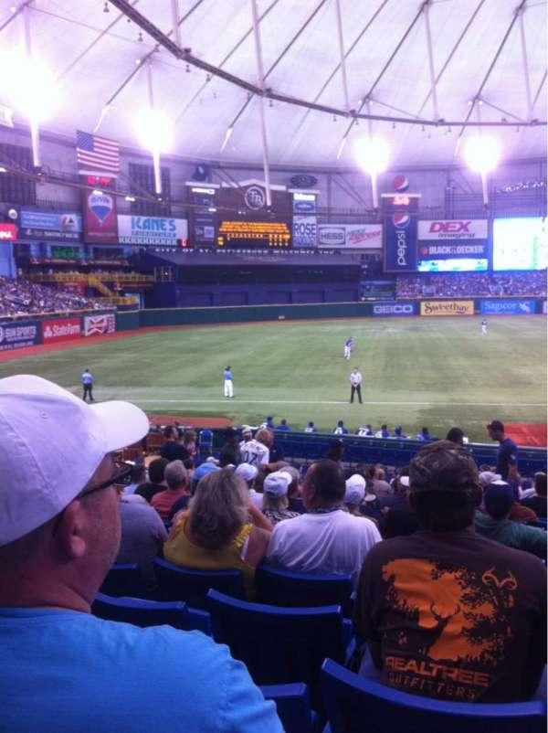 Tropicana Field, section: 127, row: CC, seat: 9