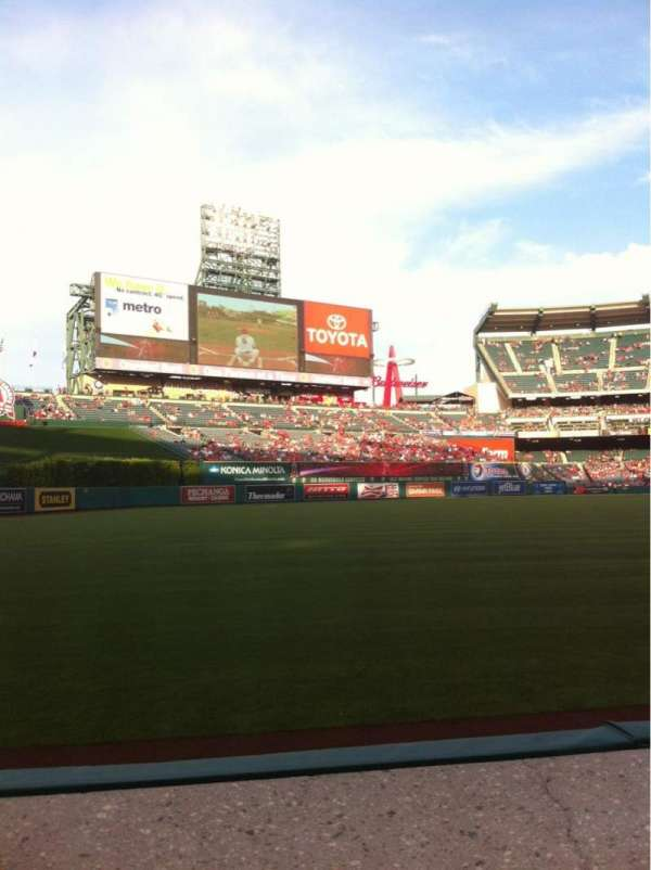 Angel Stadium, section: F105, row: A, seat: 4