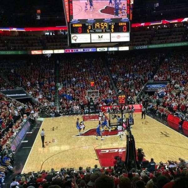 KFC Yum! Center, section: 101, row: S, seat: 19