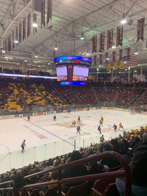 3M Arena at Mariucci, section: 10, row: 18, seat: 1