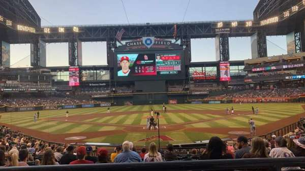 Chase Field, section: 122, row: 22, seat: 9
