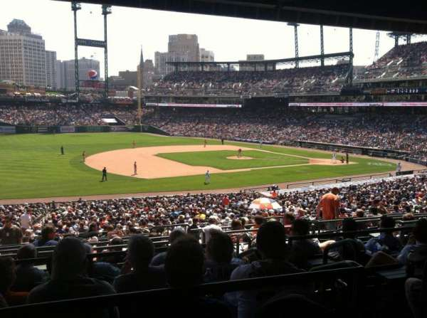 Comerica Park, section: 137B, row: H, seat: 3
