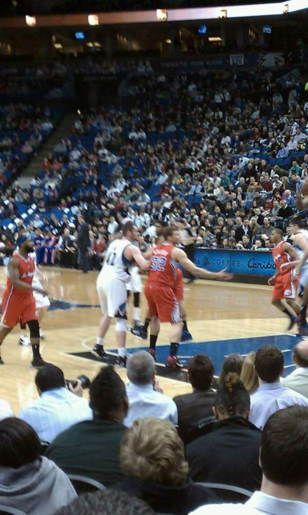 Target Center, section: 106, row: 7, seat: 2