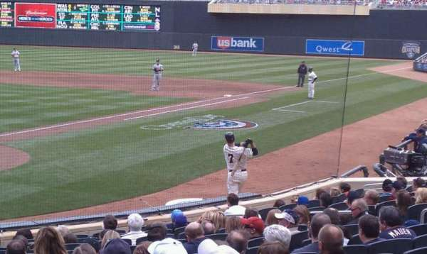 Target Field, section: 114, row: 1, seat: 5