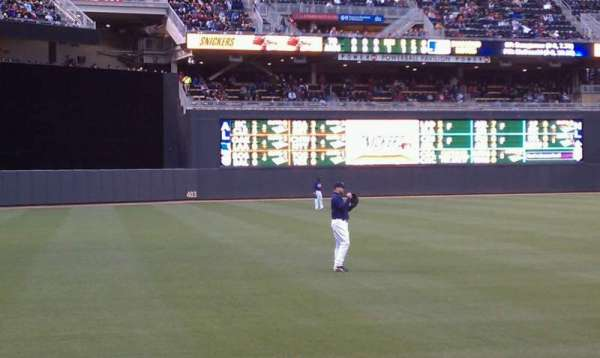 Target Field, section: 126, row: 5, seat: 11