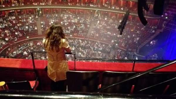 Royal Albert Hall, section: Rausing Circle, row: Y-3, seat: 175