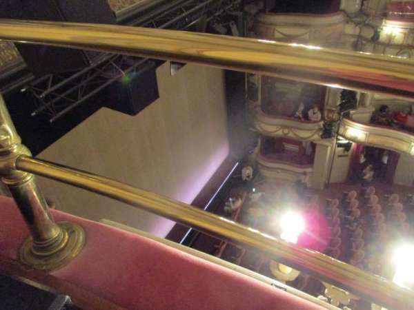 Noël Coward Theatre, section: Balcony, row: A, seat: 18