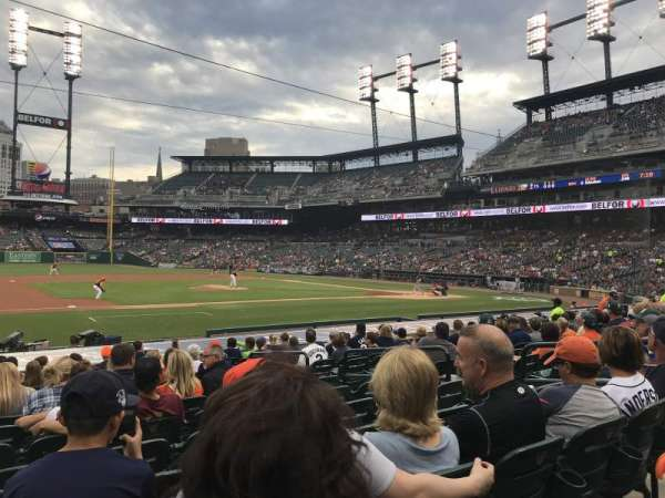 Comerica Park, section: 135, row: 20, seat: 8