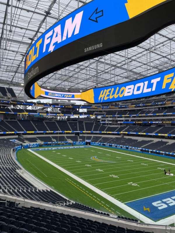 SoFi Stadium, section: 202, row: 14, seat: 4