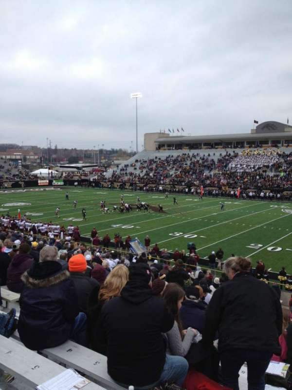 Waldo Stadium, section: A, row: 17, seat: 7