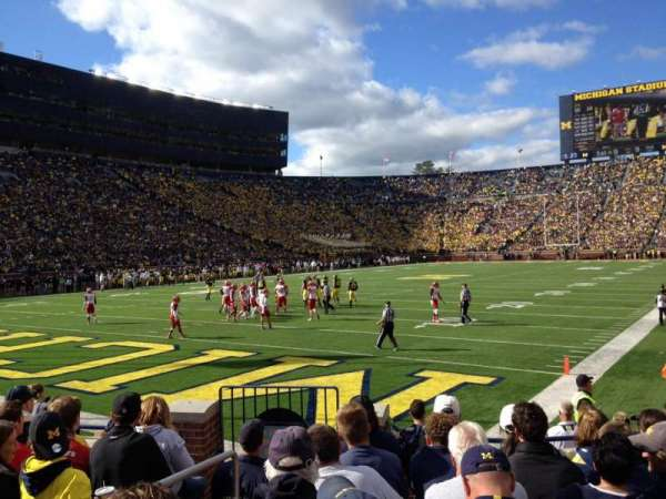 Michigan Stadium, section: 9, row: 6, seat: 31