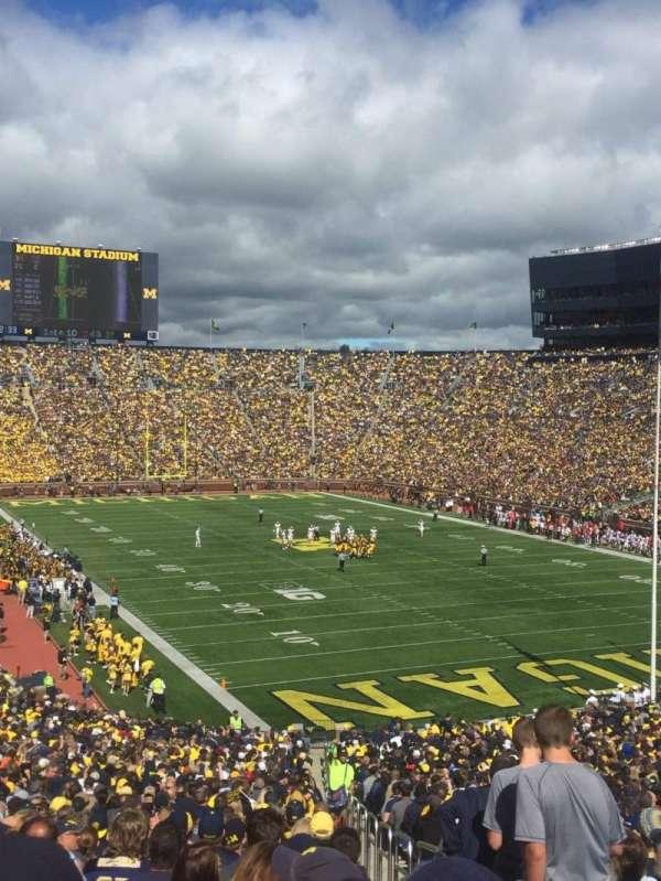 Michigan Stadium, section: 15, row: 59, seat: 15