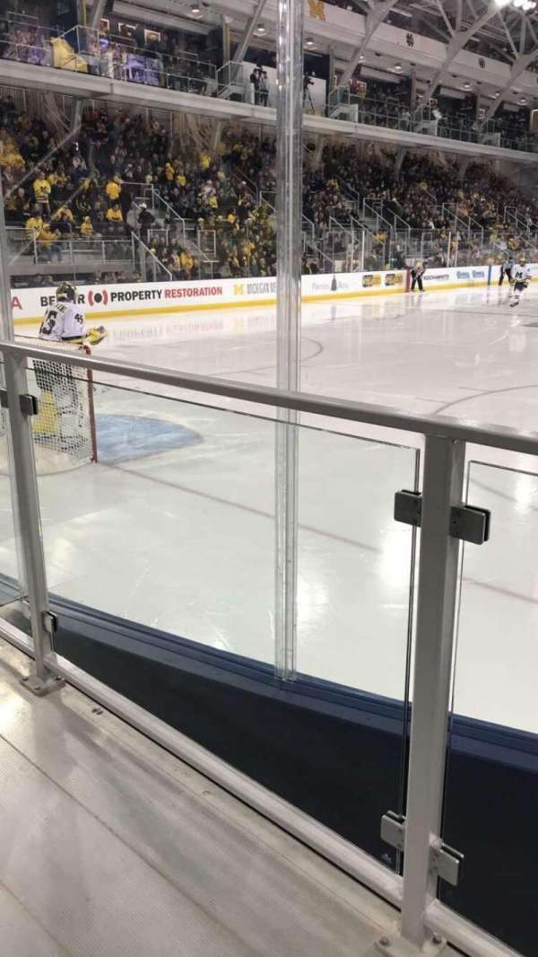Yost Ice Arena, section: 13, row: 2, seat: 1