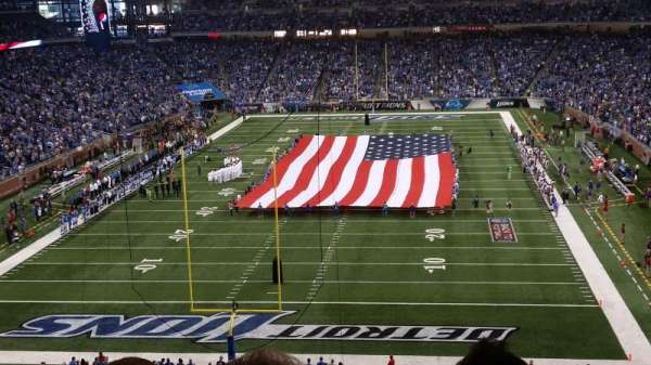 Ford Field, section: 319, row: 3, seat: 7