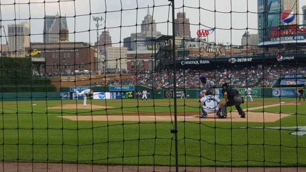 Comerica Park, section: 129, row: 2, seat: 9