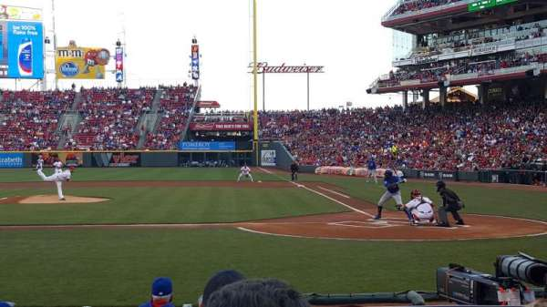 Great American Ball Park, section: 119A, row: J, seat: 1