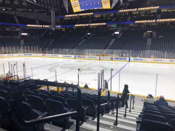 Bridgestone Arena, section: 117, row: A, seat: 20