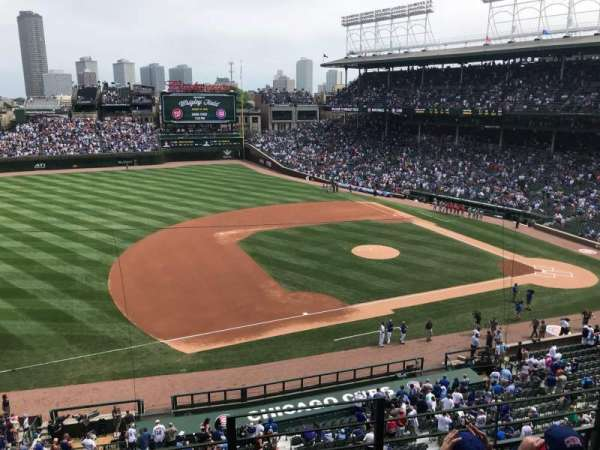 Wrigley Field, section: 308L, row: 4, seat: 24