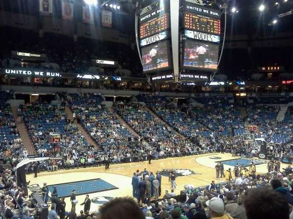 Target Center, section: 133, row: Q, seat: 11
