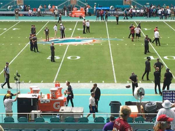 Hard Rock Stadium, section: 118, row: 29, seat: 8