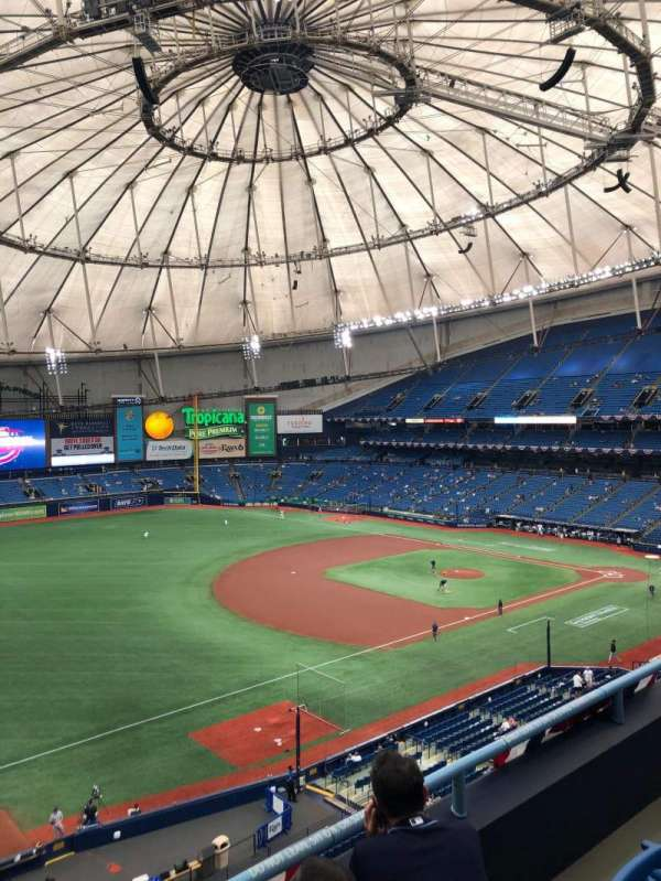 Tropicana Field, section: 319, row: C, seat: 1