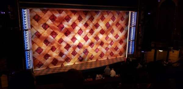 Brooks Atkinson Theatre, section: Front Mezzanine L, row: D, seat: 7