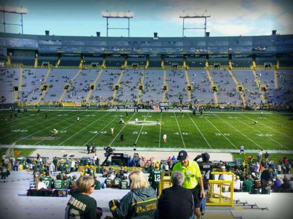 Lambeau Field, section: 120, row: 41, seat: 24