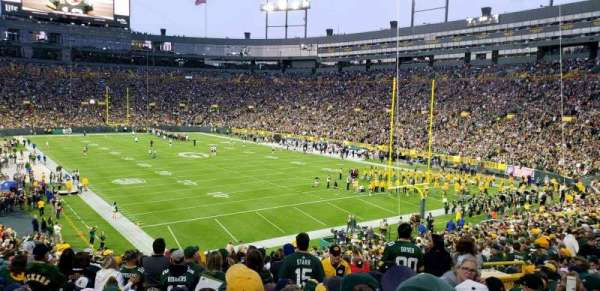 Lambeau Field, section: 134, row: 38, seat: 21