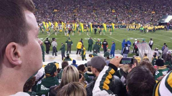Lambeau Field, section: 122, row: 8, seat: 17